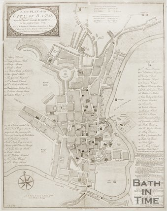A new plan of the city of Bath with additional buildings to the present time,  1779