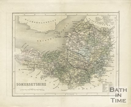 Map of Somersetshire, 1851