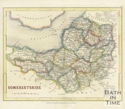 Map of Somersetshire, 1843