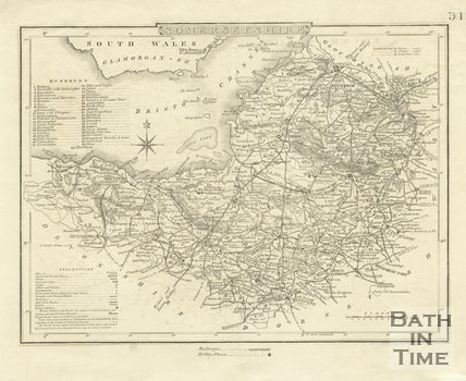 Map of Somersetshire, 1842 - 1844