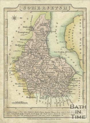Map of Somersetshire, 1810