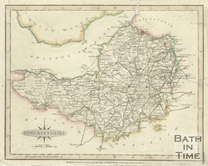 Map of Somersetshire, 1806