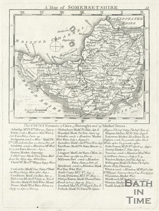 Map of Somersetshire, 1787