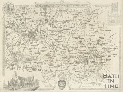 Map of the Environs of Bath and Bristol, 1841 - 1867