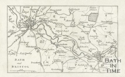 Map of Bath and Bristol, 1803