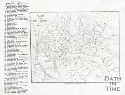 Plan of the City of Bath, 1890