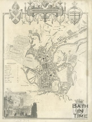 Map of the City of Bath, 1836