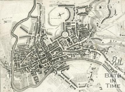 Street Map of Bath, 1810
