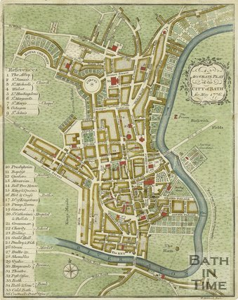 AN Accurate Plan of the City of Bath for May 1776
