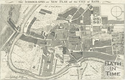 The Iconography, or New Plan of the City of Bath, 1752