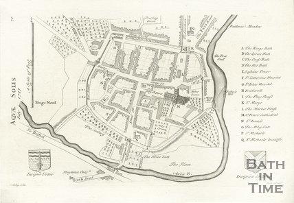 Stuckley's Map of Aquae Solis (Bath), 1723