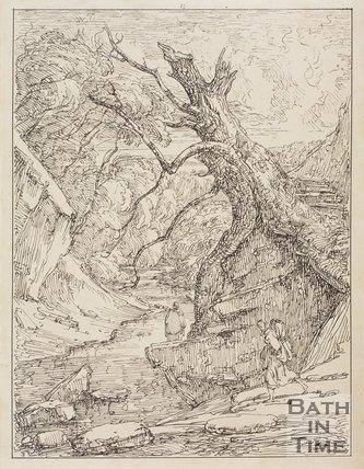 A Scene near Nant-y-Bellon, Winstay, Denbighshire by Thomas Barker, 1814