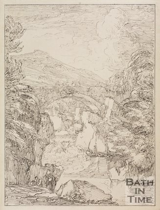 Pont-y-Pair bridge, Merionethshire, Wales by Thomas Barker, 1814