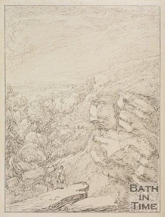 A scene from Hampton Cliffs by Thomas Barker, Bathampton, Bath,  1814