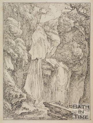 Rhaiadr Cynant y Vuch upon the Etilia, near Ffestiniog, Merionethshire, Wales by Thomas Barker, 1814
