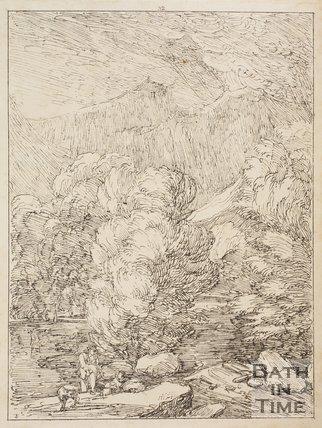 Cader Idris from Pont ty Gwyn, Snowdonia, Wales by Thomas Barker, 1814