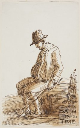 Sketch of a seated peasant by Thomas Barker (1769 - 1849)