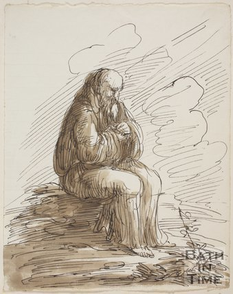 Sketch of the old monk by Thomas Barker (1769 - 1849)
