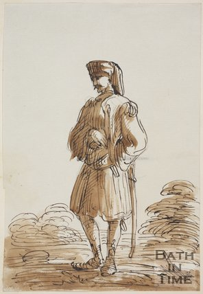 Sketch of a Turkish Soldier by Thomas Jones Barker, drawn 1837