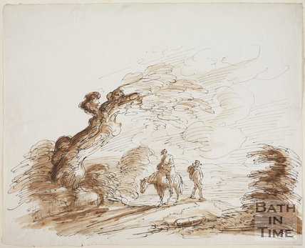 Sketch of a stormy evening near Bath by Thomas Barker (1769 - 1849)