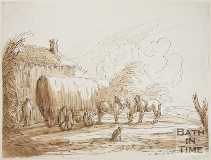 Sketch of the Hay Wain by Thomas Jones Barker (1815 - 1870)