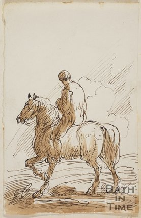 Sketch of a man on a horse by Thomas Barker (1769 - 1840)