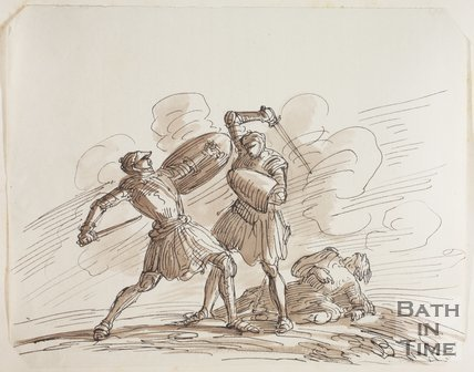 Sketch for battle painting by Thomas Jones Barker (1815 - 1870)