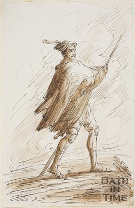 Figure sketch by Thomas Jones Barker (1815 - 1870)