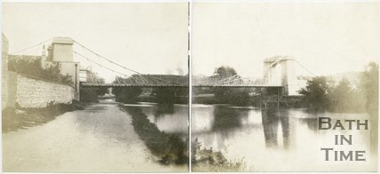 Victoria Bridge, Bath panorama, Bath, 1849