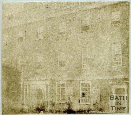 St John's Hospital and entrance to the Cross Baths, Bath, 1849