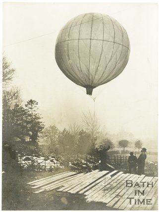 Alexander's experimental paper balloon, The Mount, Batheaston, Bath, c.1900