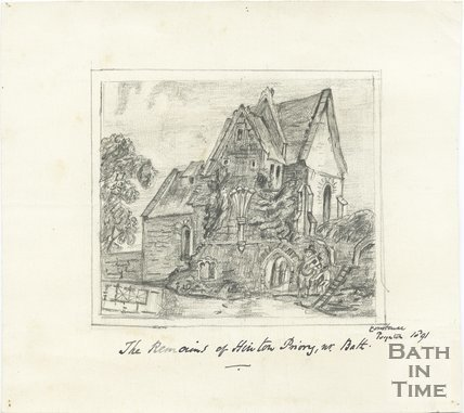 The remains of Hinton Priory, near Bath, 1891