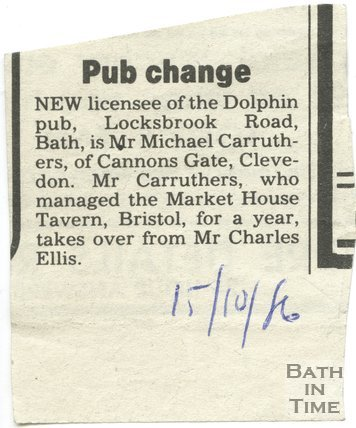 Pub Change - Dolphin Inn, Bath, 15 October 1986
