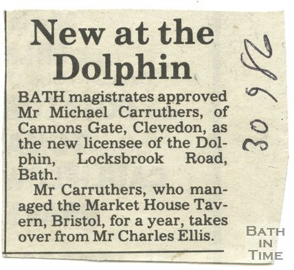 New at the Dolphin - Dolphin Inn, Bath, 30 September 1986