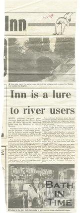 Inn is a lure to river users - Dolphin Inn, Bath, 16 August 1989