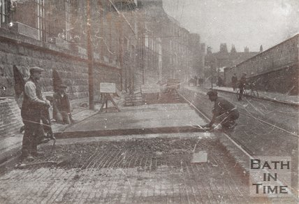 The reconstruction of Lower Bristol Road, Bath for the Bath Corporation, c.1923