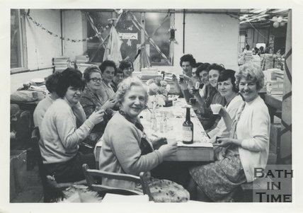 Staff Christmas part at Cedric Chivers bookbinders, 1967