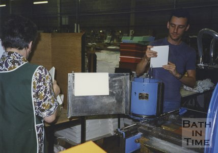 Inside the works of Cedric Chivers bookbinders, Pucklechurch, 1994
