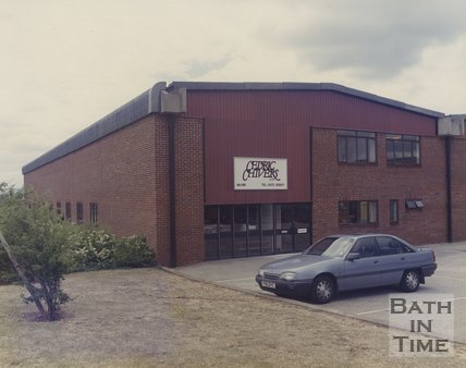 Outside the Cedric Chivers works at Pucklechurch, c.1990s