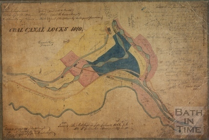 Plan of the lock flight at Combe Hay 1810