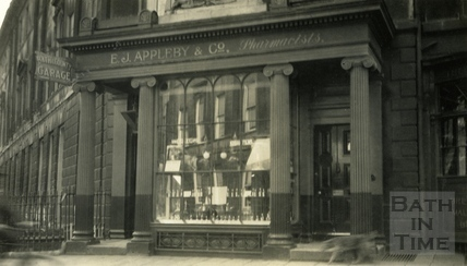 E.J. Appleby & Co. shop front, 8, Argyle Street, Bath c.1920