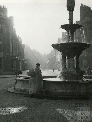 The fountain at Laura Place, Bath