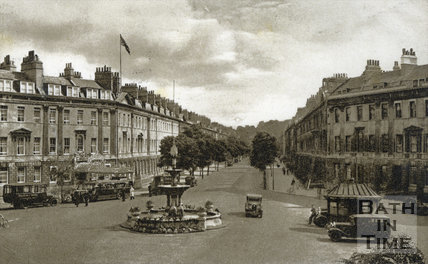 Great Pulteney Street and Laura Place, Bath 1944