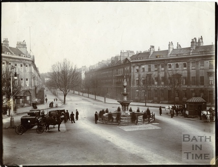 Pulteney Street and Laura Place, Bath c.1903