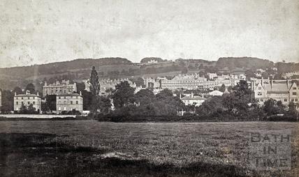 View from Bathwick up to Sham Castle, Bath c.1875