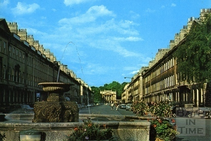 Great Pulteney Street from Laura Place, Bath c.1970