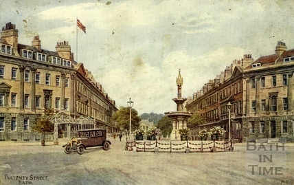 Great Pulteney Street and Laura Place, Bath c.1930