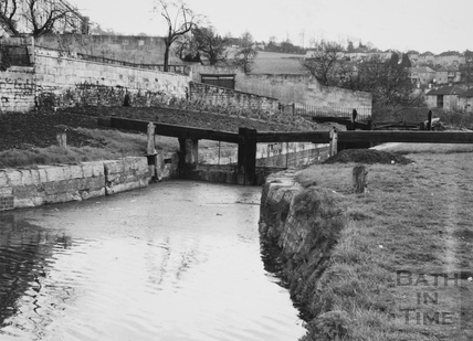 Head of Top Lock, Bathwick, Bath 1956