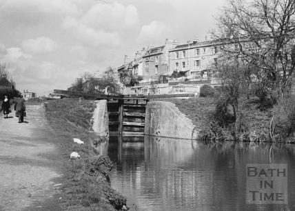 Top Lock, Bathwick, Bath 1956