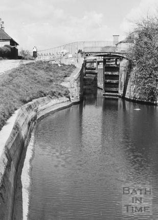 Tail of Top Lock, Bathwick, Bath 1956